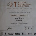 Cmimi i 3 ne Ancona(Italy). INTERNATIONAL COMPETITION OF WINES FOR FISH. ( Maj 2012)
